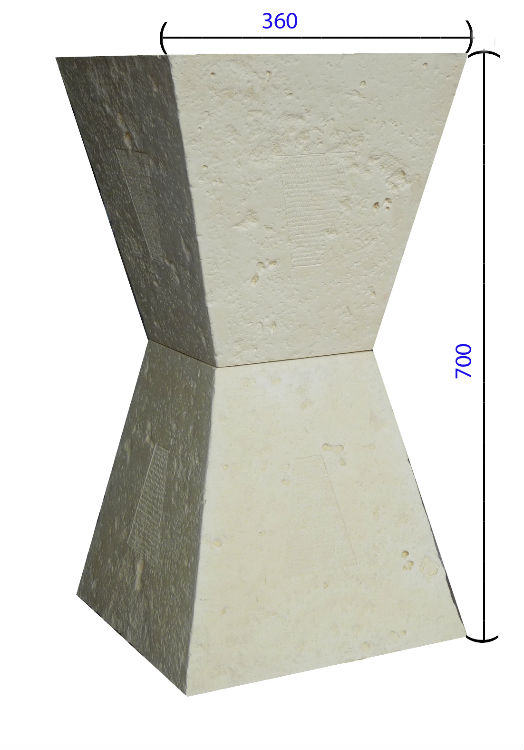 pied trapèze avec dimensions